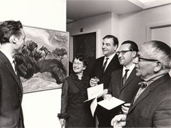 The opening of an exhibition in 1968